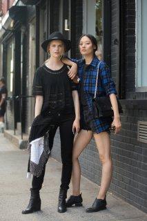 Street style:2015春夏纽约时装周模特街拍