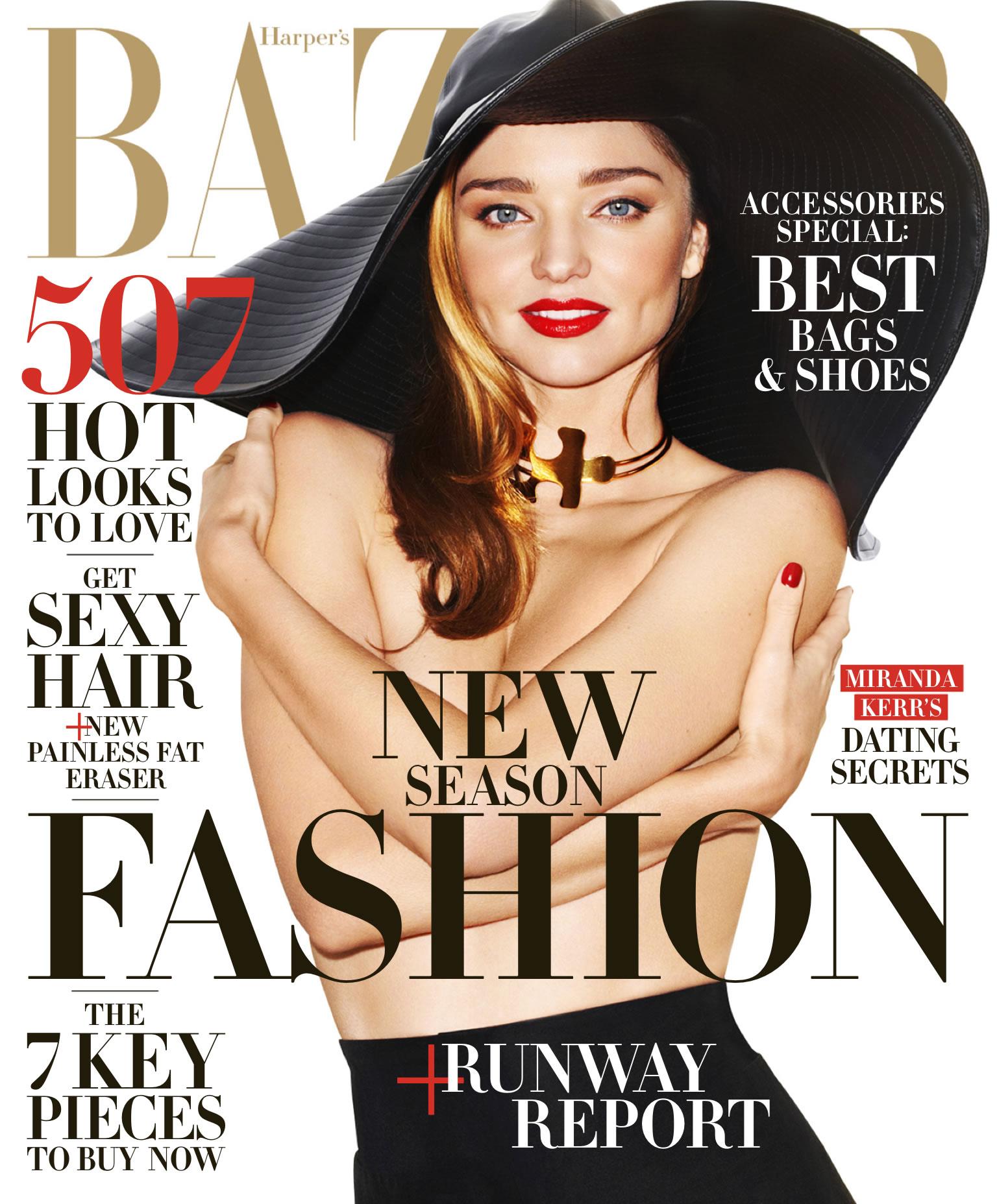 Miranda Kerr出镜《Harper's Bazaar》2015年2月美国版杂志  掌镜摄影师 Terry Richardson