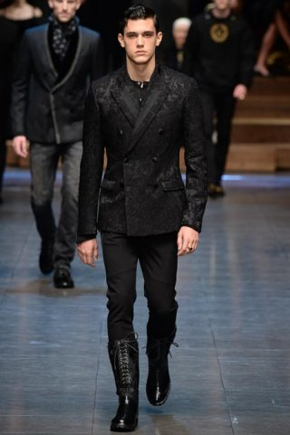 Dolce & Gabbana 2015米兰时装周秋冬男装时装发布会