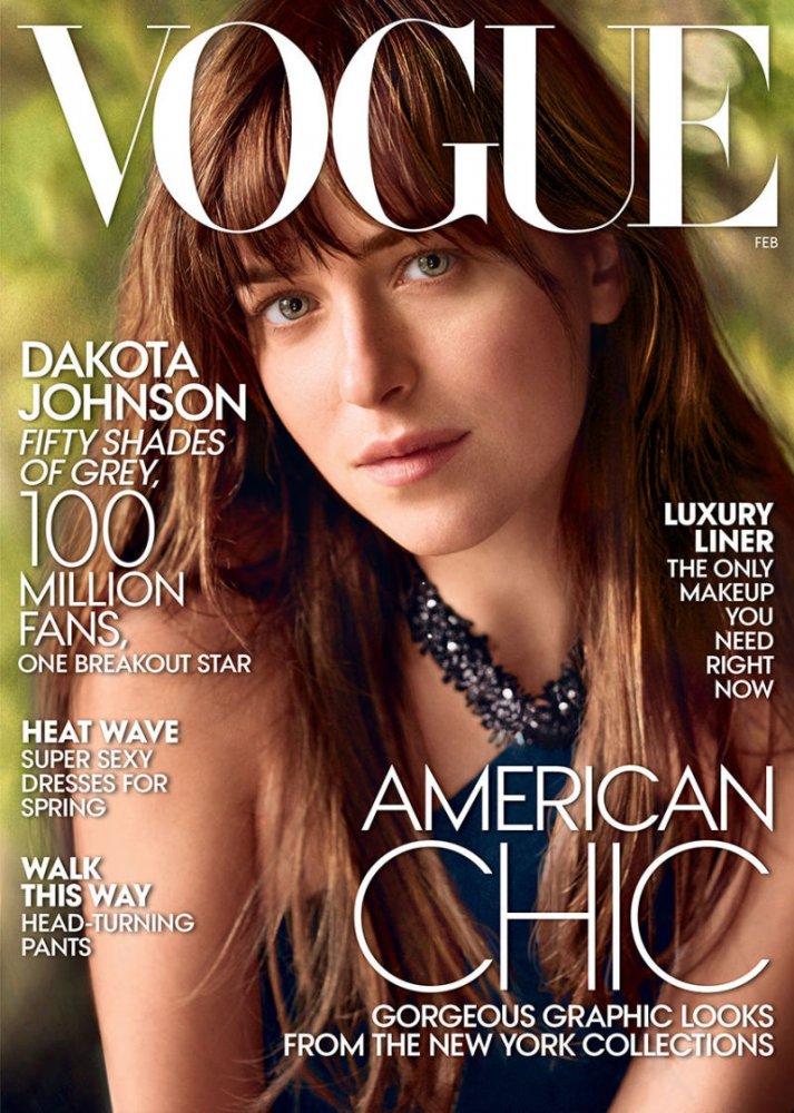 US VOGUE FEBRUARY 2015 : DAKOTA JOHNSON