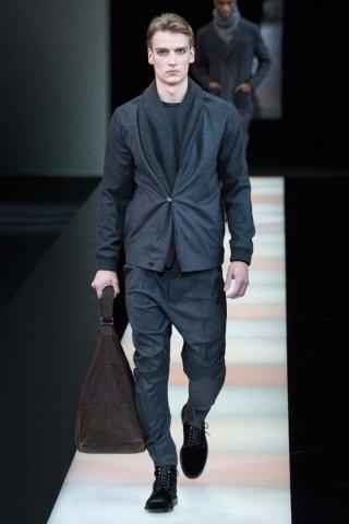 Giorgio Armani 2015米兰时装周男装时装发布会