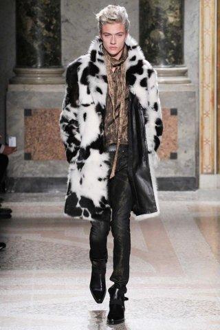 Roberto Cavalli 2015米兰时装周男装发布会