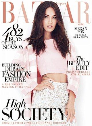 《Harper's Bazaar》阿拉伯版2015年4月号 梅根·福克斯演绎2015春季梦幻着装