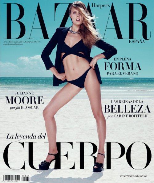 Constance Jablonski 演绎夏日性感泳装大片 欧美时装杂志《Harper's Bazaar》西班牙版