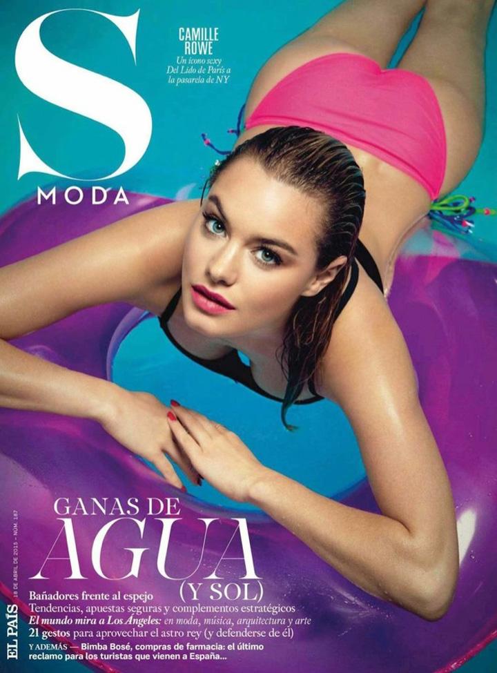 Camille Rowe《S Moda》杂志2015年4月号