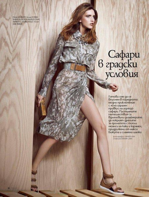 欧美时装杂志 Iris Egbers for ELLE Bulgaria by Damien Kim & DaVian Lain