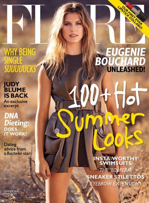 Flare时尚欧美杂志/Eugenie Bouchard演绎夏日波西米亚时尚大片