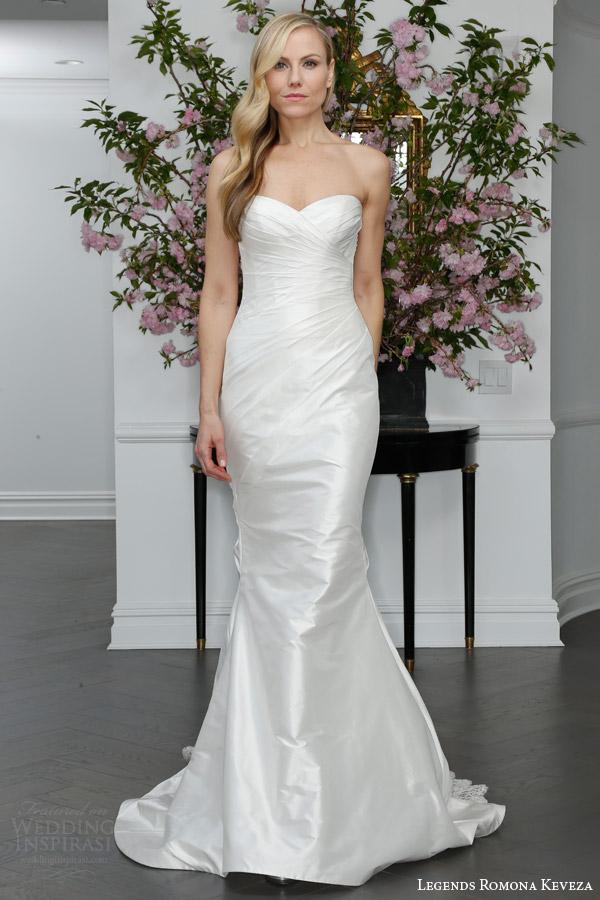 legends romona keveza spring 2016 bridal l6107 strapless sweetheart draped mermaid wedding dress silk shantung tafetta