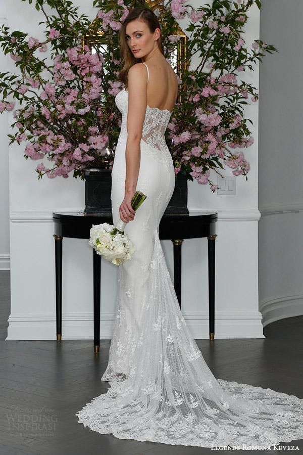 legends romona keveza bridal spring 2016 l6100 slip wedding dress point alencon lace corset bodice spaghetti straps illusion lace train back