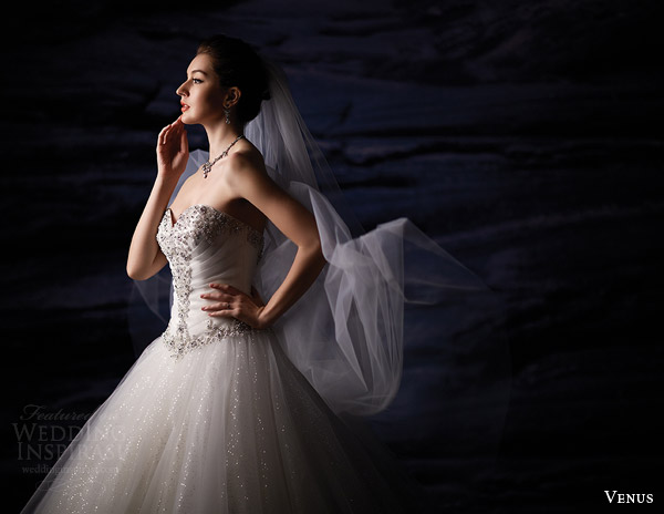 venus bridal fall 2015 venus collection ve8201 strapless wedding dress sweetheart beaded bodice tulle ball gown medium