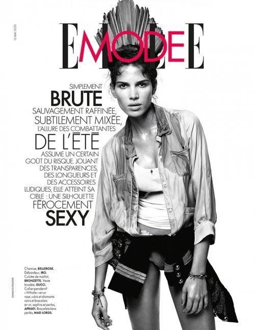 超模Raica Oliveira Elle时尚杂志摄影欣赏