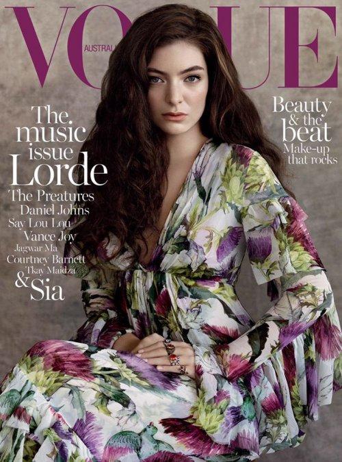 《Vogue》时装杂志摄影欣赏 澳洲小天后Lorde 展现优雅成熟美