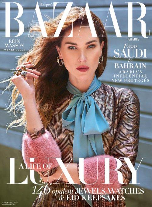 超模Erin Wasson 演绎《Harper's Bazaar》时装杂志摄影大片