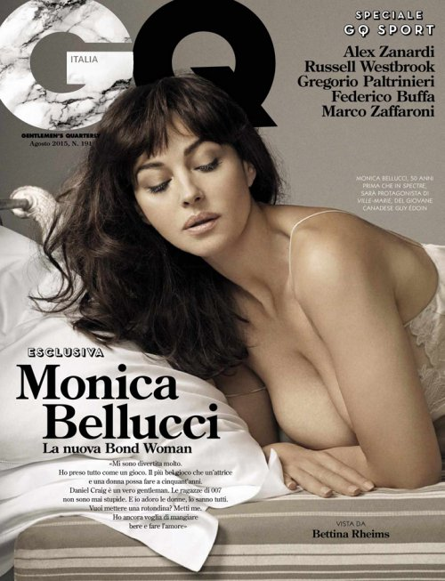 Monica Bellucci(莫妮卡·贝鲁奇)登《GQ》时尚杂志封面