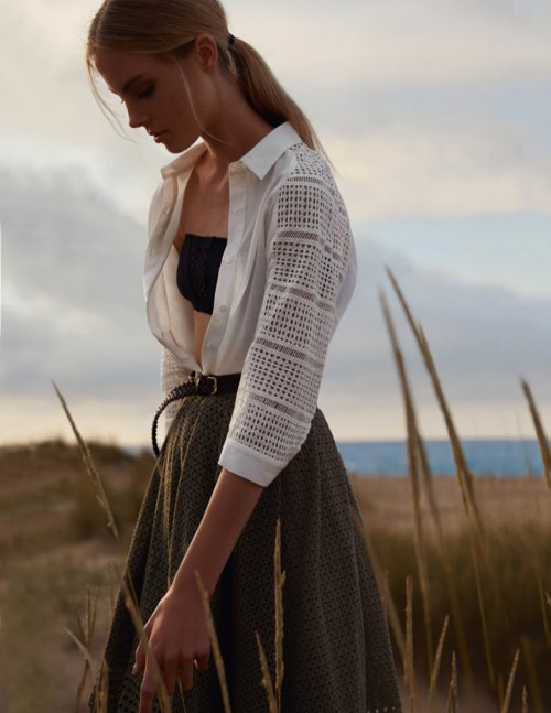 超模Wylie Hays演绎《Grazia》时尚杂志摄影大片
