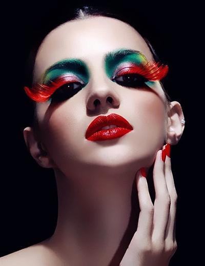 个性时尚创意彩妆造型图片 呈现完美激情