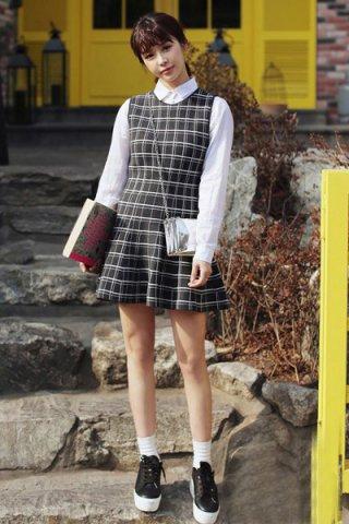 春季长袖连衣裙搭配图片 清新甜美up好感度