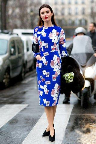 春季长袖连衣长裙搭配图片 穿出超强气场成人气女王