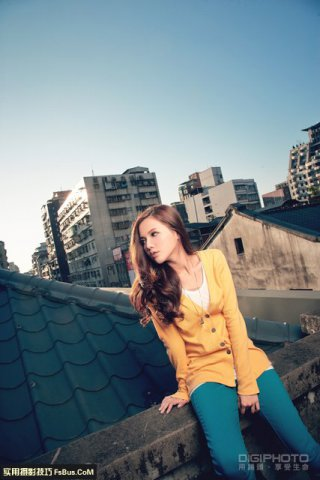 室外屋顶上的控光小摄影技巧
