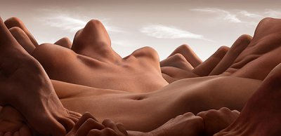 Carl Warner摄影作品:人体风景