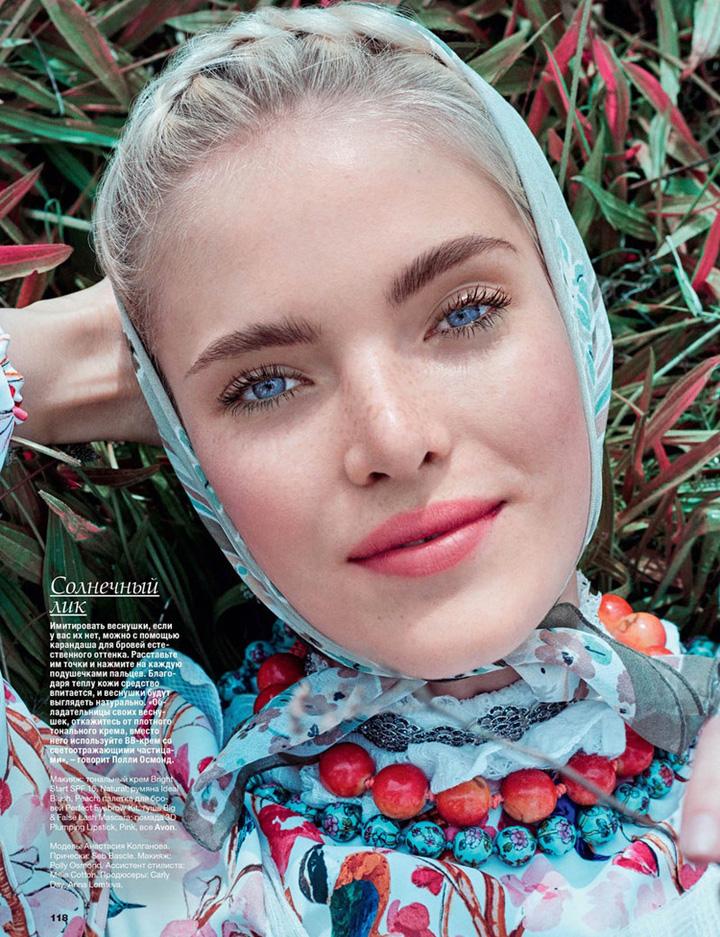 Anastasia Kolganova《Allure》俄罗斯版2015年9月号