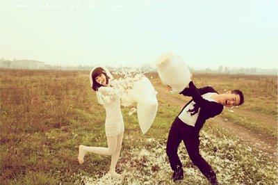 文艺小清新风格婚纱照 让你与众不同的美丽