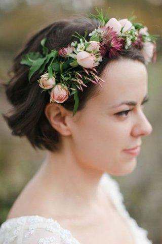短发怎么拍婚纱照 展现别样的美丽