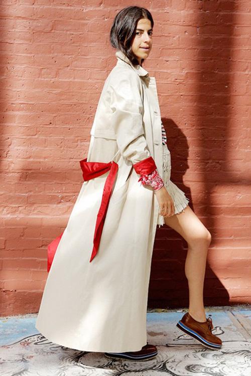 Leandra Medine 示范秋季大衣时尚穿搭
