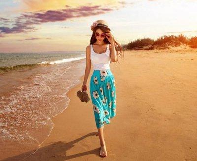 海边吸晴利器 度假妆容学起来
