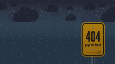35个创意404错误网页设计