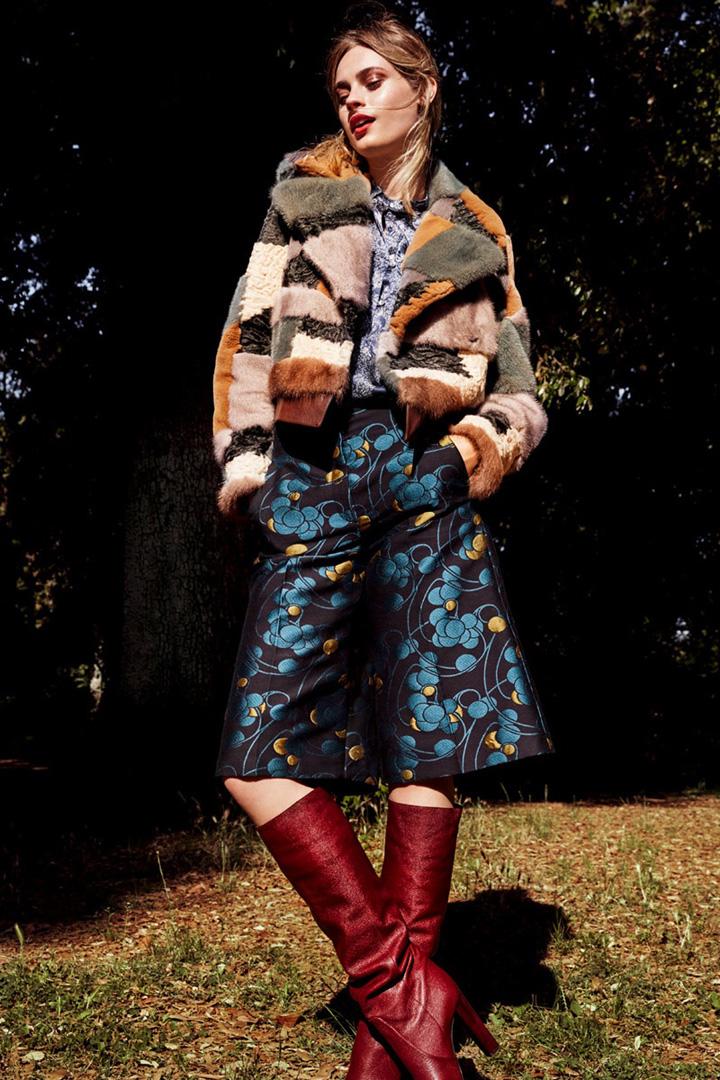 超模Paulina Heiler 演绎《Elle》时尚杂志波西米亚风尚