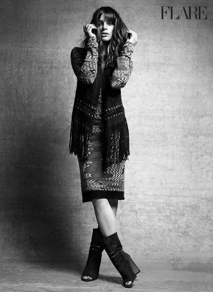 Lea Michele《Flare》杂志2015年10月号