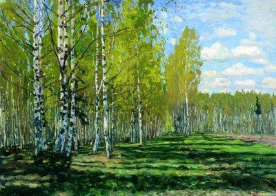 波兰斯坦尼斯·尤尼亚那维奇·茹科夫斯基(Stanislav  Yulianovich Zhukovsky)风景油画二