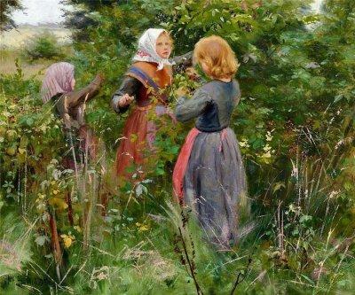 丹麦Hans Anderson Brendekilde油画作品欣赏