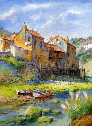 西班牙Faustino Martin Gonzalez油画风景