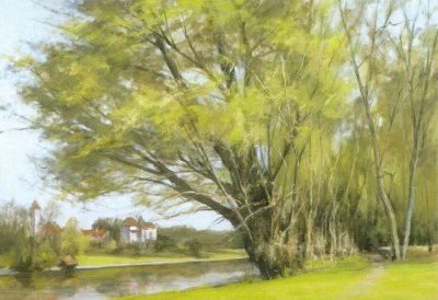 日本湯山俊久(Toshihisa Yuyama)油画风景作品