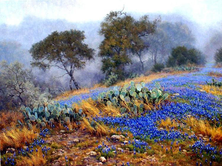 时尚条纹_美国Mark Haworth风景油画作品欣赏_油画作品_妮兔时尚网
