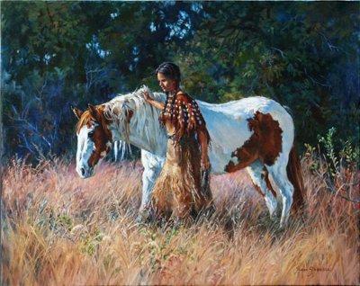 美国Sharon Standridge西牧风情油画作品欣赏