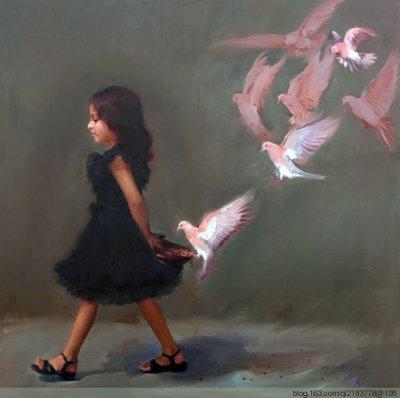 印度Pramod kurlekar人物油画作品欣赏