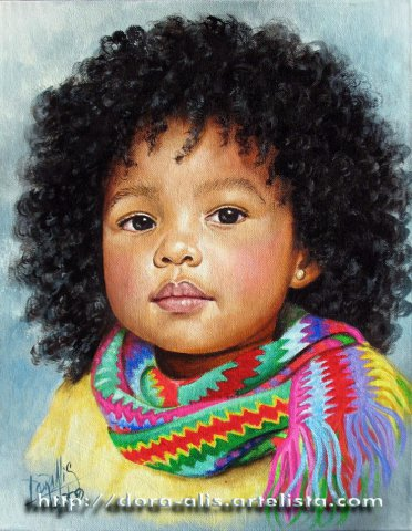 哥伦比亚Dora Alis人物油画作品欣赏