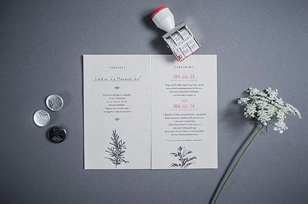 Zsófi\s wedding 个性婚礼邀请函平面设计欣赏