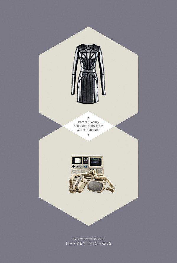 Harvey Nichols风格统一的海报招贴平面设计作品