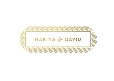 Marina & David婚礼邀请函设计