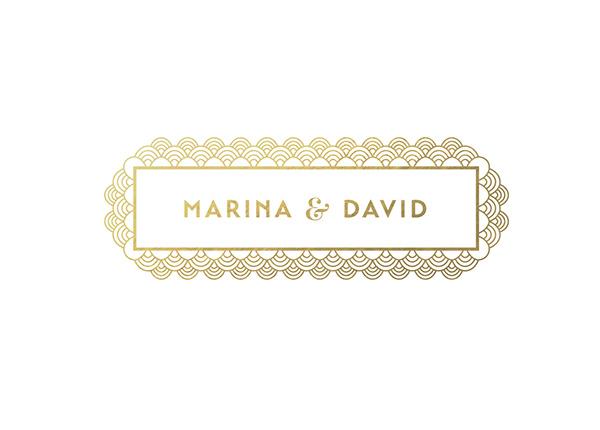Marina & David 婚礼邀请函平面设计作品