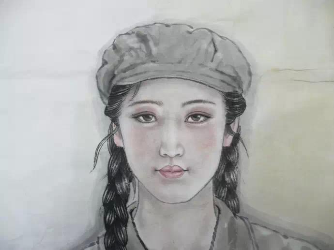 刘向荣国画人物作品