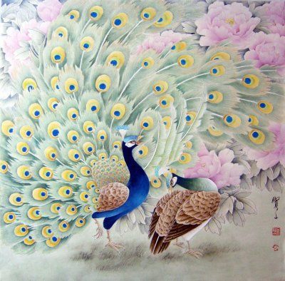 吕贤文工笔花鸟画欣赏