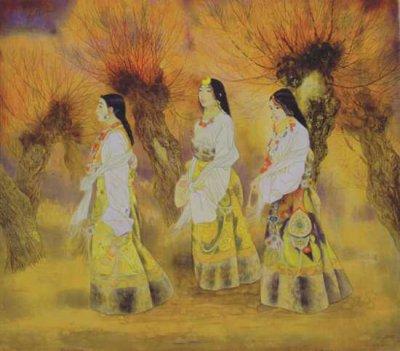 李青稞国画作品欣赏