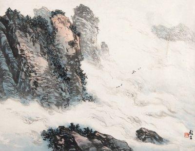 吴养木国画山水作品