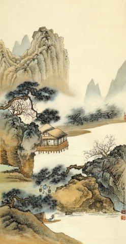刘广国画山水作品