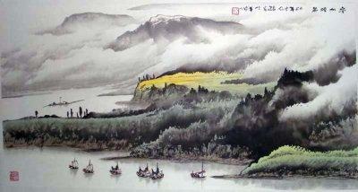 庞泰嵩国画山水作品